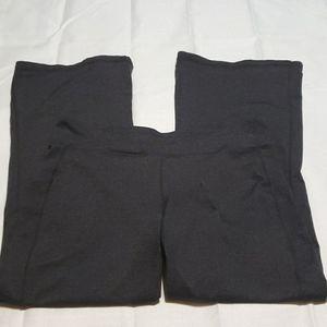 Athleta charcoal gray flared petite yoga pants